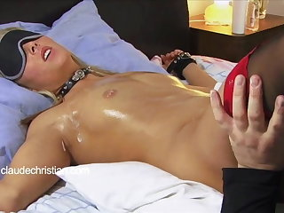 Required blonde with dripping wet pussy licked to orgasm