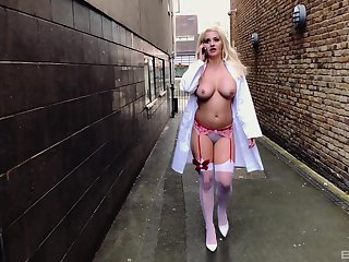 Oddball horny nurse Sienna Day ass fucked and spanked absent from