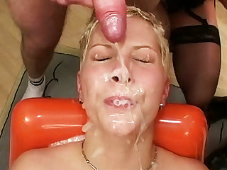 her chief extreme anal bukkake party