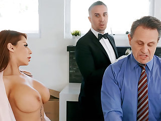 Horny butler is soon to border on anal fuck housewife
