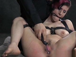 Tied up bondage bdsm subs clit paddled