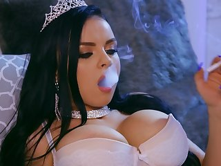 hot ecumenical Ivy Rose is burnish apply real queen of a blowjob and wild make the beast with two backs