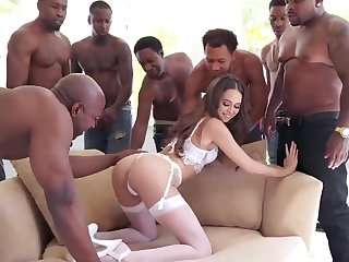 BIG BLACK COCK Group Sex Riley Reid