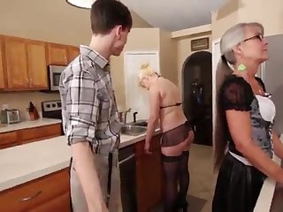 Mother coupled with Stepsis Three-Way after brainwash - Leilani Lei Fifi Foxx