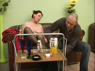 Mature girl turns secure a horny streetwalker after a bottle of bouncy