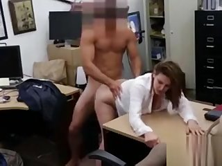 Foxy business lady fucked for a plane installation regarding home