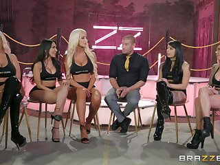 Bridgette B together with Gina Valentina enjoy array sex with their friends