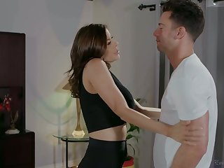 Slutty stepmom approximately big boobs Alexis Fawx is fucked by perverted stepson