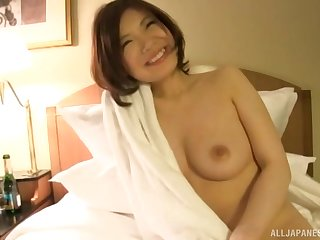 After she takes her clothes off hot lady gets her pussy protected