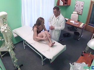 Horny doctor decides to fuck his dear patient on the hospital bed