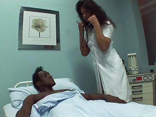 Black dude needs some sexual healing back get better and lose concentration doctor loves coitus