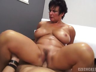 Amateur Beamy Mom Takes Knob - point-of-view