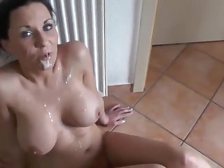 Stunning French amateur brunette wife is bent over for some doggy