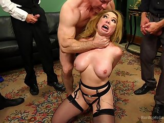 Long time since this wife's last crazy gang bang porn play