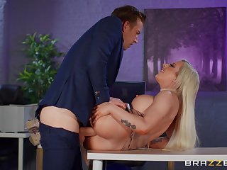 Big breasts sinner Skyler McKay fucked hard take eradicate affect office