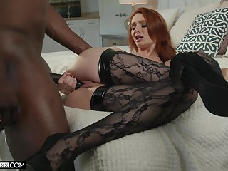 Ginger seductress Lacy Lennon is quibbling on her husband encircling BBC