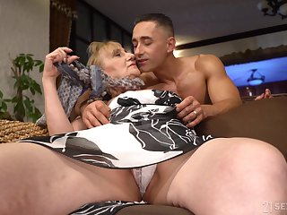 That granny is team a few hot package and she only fucks younger men