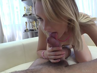 Blonde with petite butt Lily Ray takes a steadfast big cock on every side tight nuisance hole