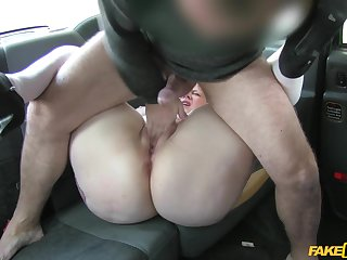 Doggy perfection on high be transferred to back seat with a hot grown up