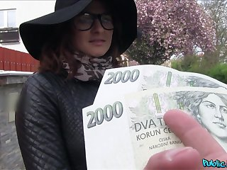 Czech beauty accepts cash of a good have sex on cam