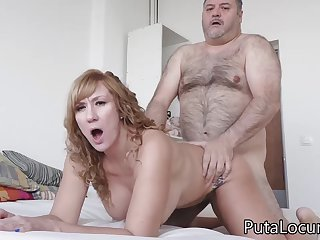 Latina MILF Katerina gets fucked at the end of one's tether big freak daddy