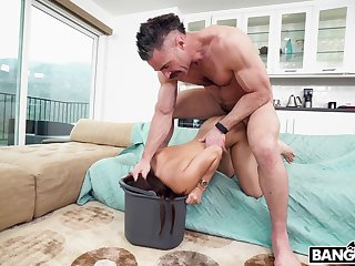 Beloved maid gets her stingy snatch pounded overwrought her employer's rock hard cock