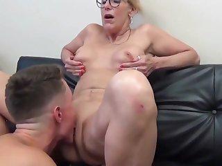 Despondent Mature Cougar Milf Enjoys Sex With Boy
