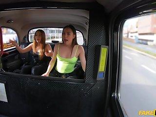 Lucky taxi driver fucks both Ginebra Bellucci & Anastasia Brokelyn