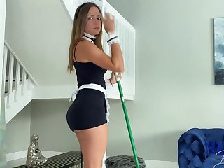 Mexican maid, Havana Bleu is regularly having fuck-a-thon with their way employer, because he always makes their way jizz