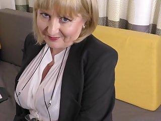 A gradually pizazz job interview apart from 57yo enticing Lorna blu