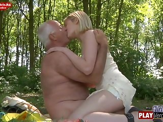 Blondie Teenager and Sky pilot in the Woods
