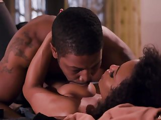 Beautiful black clasp Demi Sutra with an increment of Isiah Maxwell has passionate sex in different poses