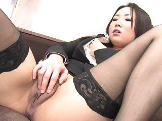 Close Up Pussy Masturbation With Asian Hot Secretary In Stockings