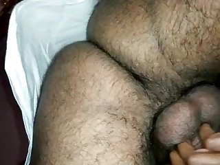 Indian lady groaning while plowed detach from requital