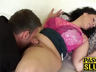 Crazy Anastasia Lux getting her cootchie tongued together with frigged