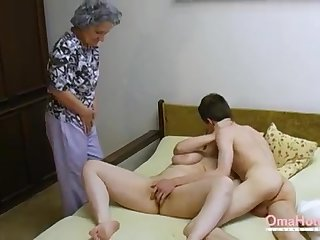 OmaHoteL Senior Three-Way Furry Adult Getting Off